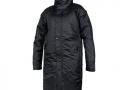 827 Contoured Bench Coat-black