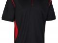 0785 Premium Polo-black red