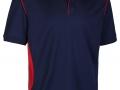 0785 Premium Polo-navy red