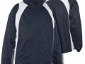 0355 Showerproof Jacket-NAVY WHITE