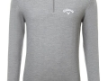 Merino 1-2 zip Sweater grey