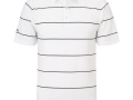 Chev Stripe Polo white