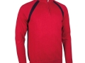 Albert 1-4 zip raglan Sweater garnet-navy