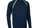 Albert 1-4 zip raglan Sweater navy-spring green