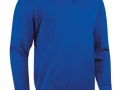 1-2 zip Cotton Sweater ascot blue