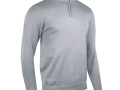 1-2 zip Cotton Sweater grey
