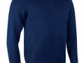 1-2 zip Cotton Sweater navy