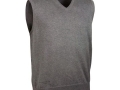 Cotton v-neck Slipover grey
