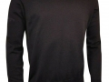 Cotton v-neck Sweater black