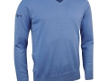 Cotton v-neck Sweater light blue