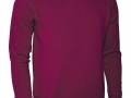 Lambswool crew neck Sweater bordeaux