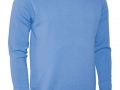 Lambswool crew neck Sweater light blue