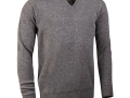 Lambswool v-neck Sweater grey