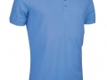 Pique Polo light blue