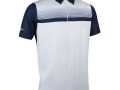 Printed Stripe Polo navy-whi