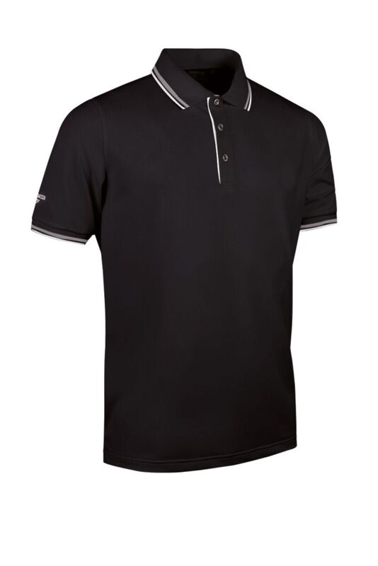Tipped Polo blk-whi
