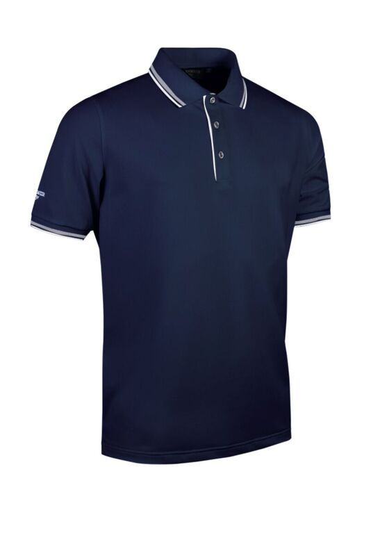 Tipped Polo navy-whi