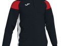 1-4 zip Sweatshirt_blk-whi-red