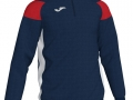 1-4 zip Sweatshirt_navy-whi-red