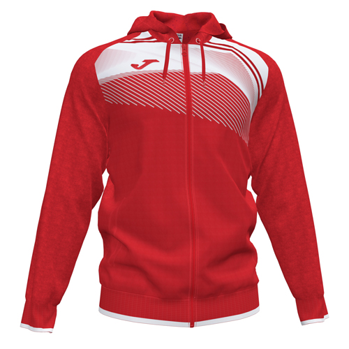 Hooded Jacket_red-whi