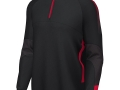 Edge Pro 1-4 Zip Midlayer_blk-red