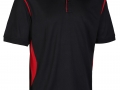 0785 Premium Polo-black red